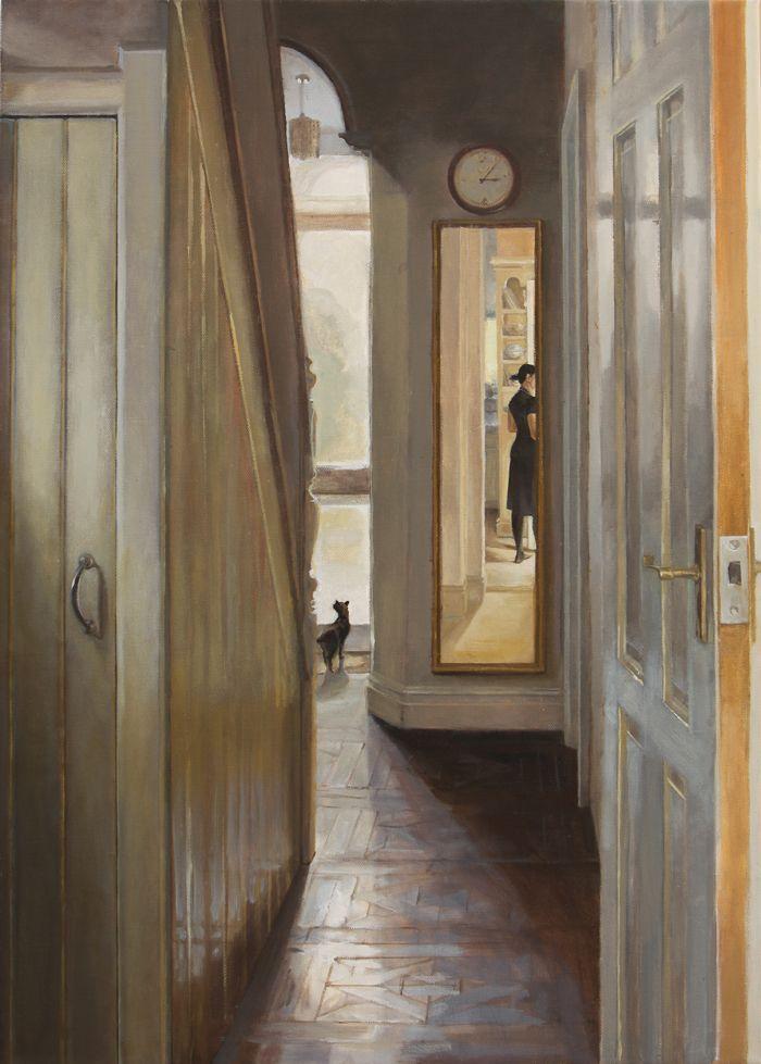 Hallway  oil on canvas