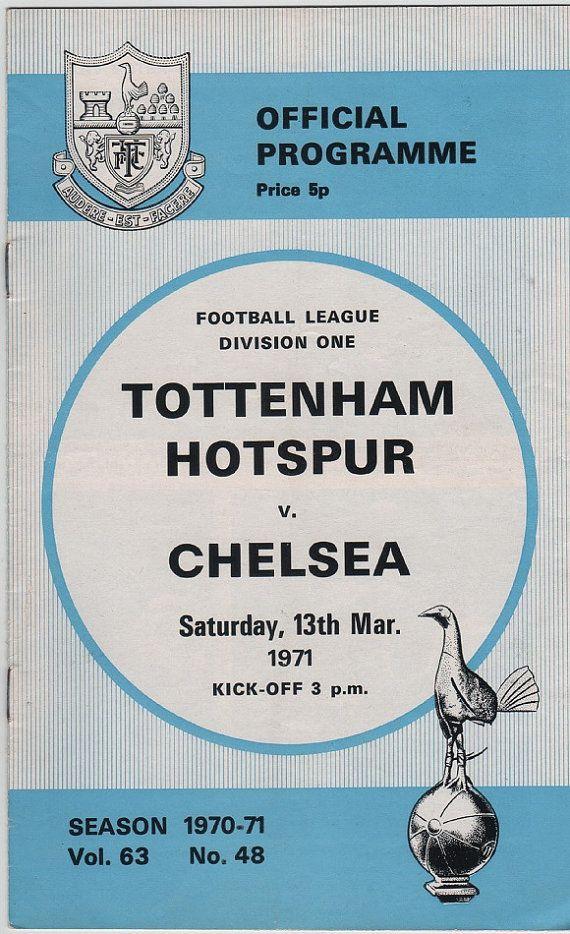 Vintage Football (soccer) Programme - Tottenham Hotspur v Chelsea, 1970/71 season #football #soccer