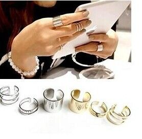 New fashion jewelry alloy round finger ring set 1set=3pcs gift for women ladies' girl R1158