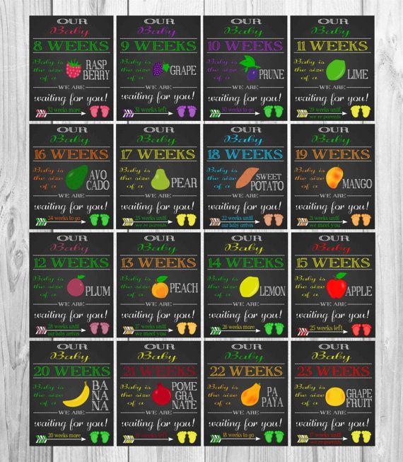 Printable Pregnancy Countdown Chalkboards by HappyFiestaDesign