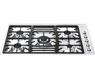 Smeg PGF95-4 Gas Hob Built In Stainless Steel