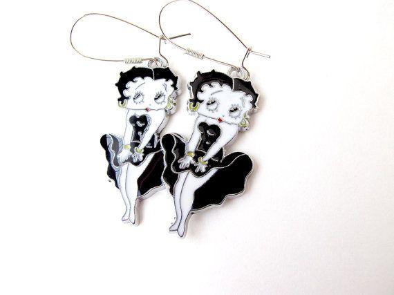 Betty Boop earrings Betty Boop Betty Boop by APlusJewelryCrafts