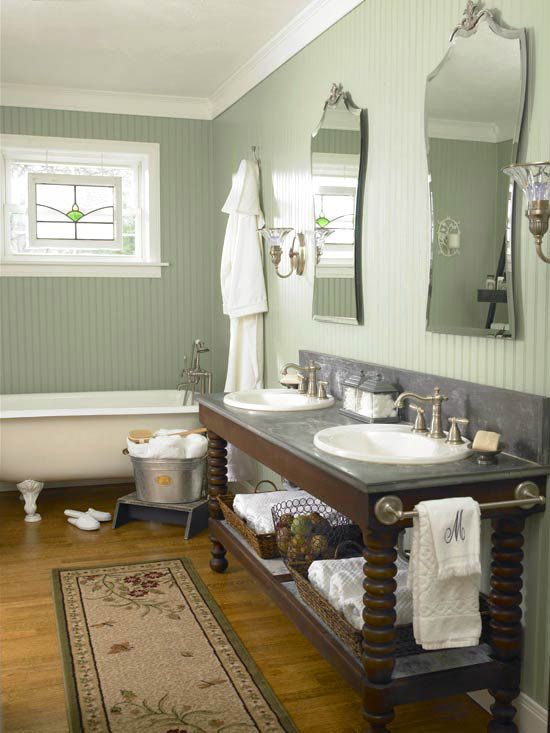 The Awesome Web Create a traditional European style bath using a twisted leg vanity classical fixtures