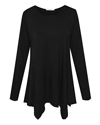 0ab122e72f3 95% Rayon, 5% SpandexJollieLovin lightweight swing tunic top tee with  handkerchief hemline. Premium and elastic The length is perfect for pairing  with ...