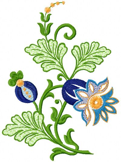 Fantastic flower free embroidery design