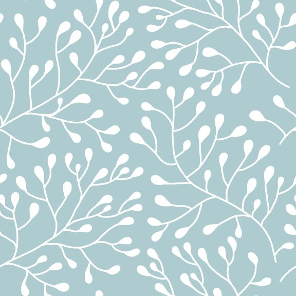 Budding Trees Ornamental Removable Wallpaper