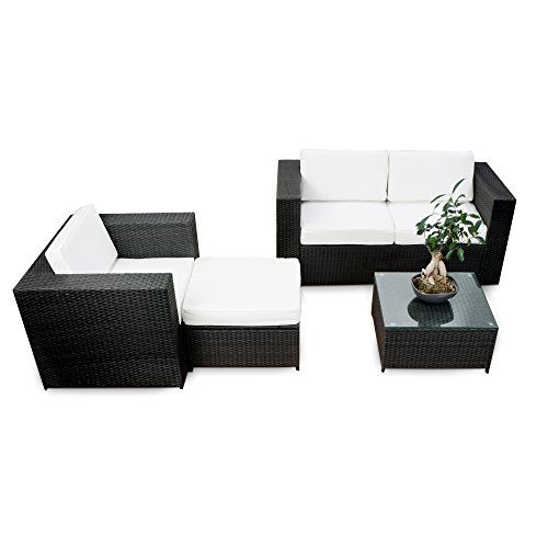 Polyrattan Lounge Mobel Set Balkon