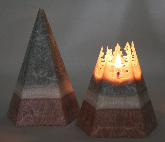 Vegan Wax Pyramid Candle 25 hour burn time by Corscandles on Etsy, $14.00 @Penn Foster #bemorefestive