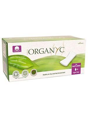 ORGANYC 24szt Cienkie wkładki higieniczne  • biodegradowalne • nie były bielone chlorem • hypoalergiczne • wolne od substancji poprawiających chłonność
