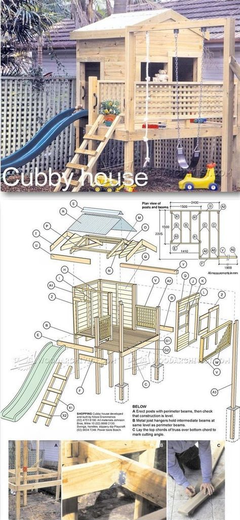 Backyard Playhouse Plans - Children's Outdoor Plans and Projects   WoodArchivist.com