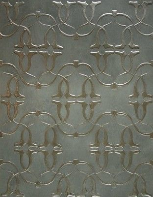 Gilt leather'Eve' panel silver and gold version, creation Lutson