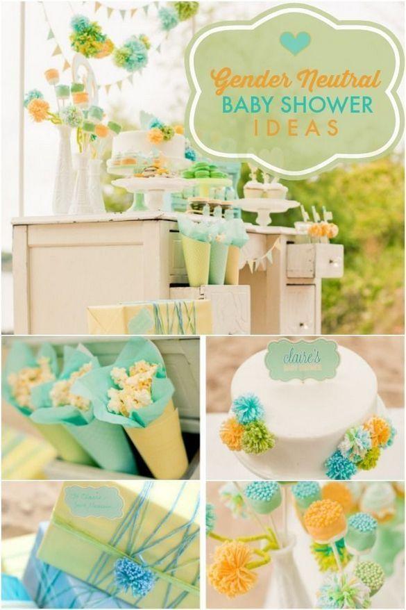 44 Gender Neutral Baby Shower Ideas Theme Babyshower Color Schemes