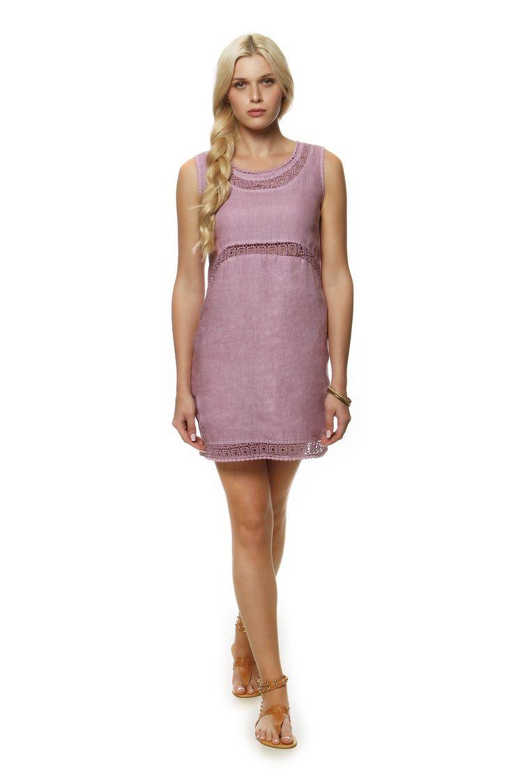 Linen Dress  1374 http://eshop.hariscotton.gr/