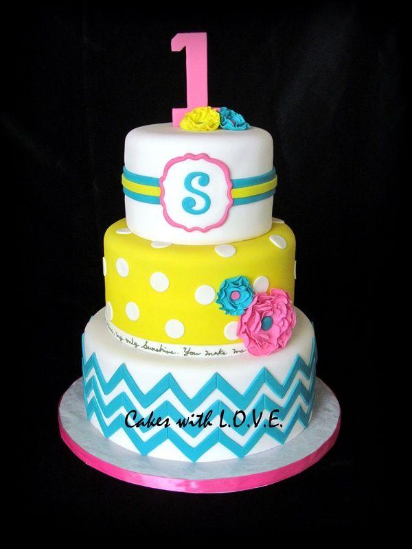 Pretty chevron cake :)