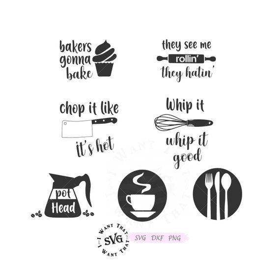 Pin On Kitchen Svg Dxf Png Cutting Files For Cricut Silhouette