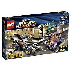 LEGO Super Heroes Batmobile and the Two-Face Chase  Get ready for hours of fast-paced adventure with LEGO Batmobile and the Two-Face Chase. As Batman heads toward the bank in his Batmobile he spots Two-Face and his evil henchmen zooming off with a huge safe in tow! Help Batman put a stop to Two-Faces   http://www.comparestoreprices.co.uk/lego/lego-super-heroes-batmobile-and-the-two-face-chase.asp