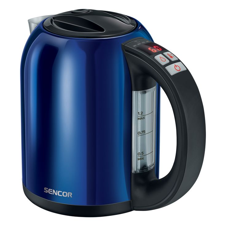 Sencor Smart electric Kettle with temperature control SWK 1271BL - Volume of 1.2 l - Electronic temperature control with setting adjustable - LED display with the current temperature continuously shown