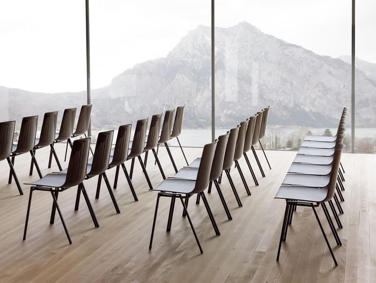 """""""nooi"""" is Wiesner-Hager stacking chair with an interlocking frame to link the chairs together. quick&easy. Red dot award 2015."""