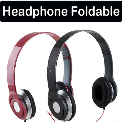 Foldable On Ear Earphone Headphone for iPod MP4 IPhone Samsung Sony PSP MP3 NEW beats dupe £4
