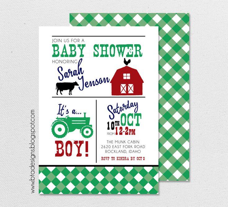 Generous Barnyard Baby Shower Invitations Photos - Invitation Card ...