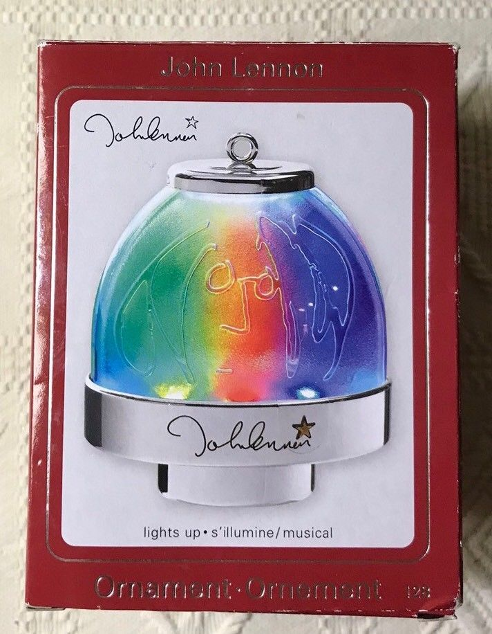John Lennon Imagine Ornament Musical Colored Lights Carlton Cards 2009 With Box  | eBay