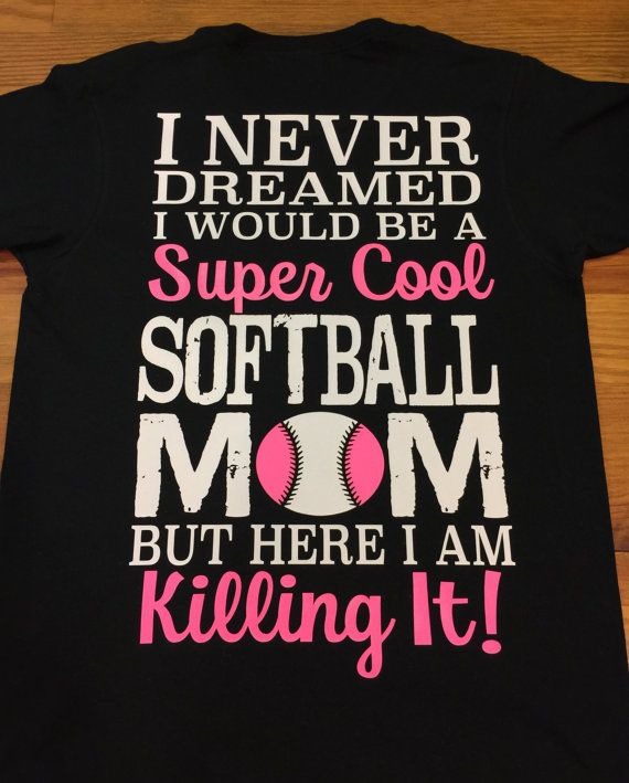 Super Cool Softball Mom Shirt Softball Mom by MicholesMonogramming