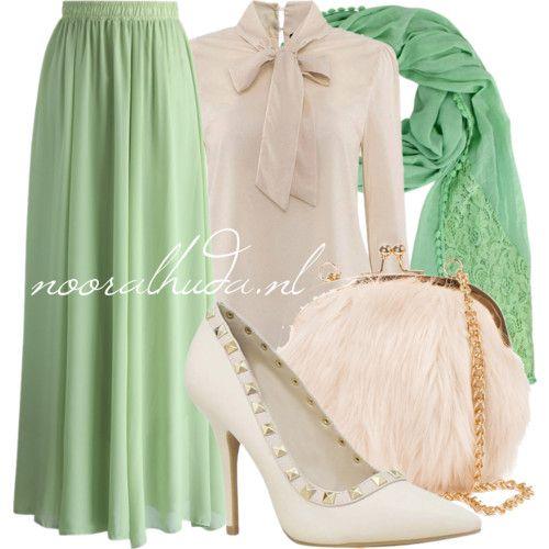 Beige + Green More