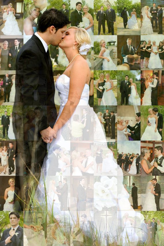 Personalized Wedding Photo Book On The Wall, Using 50 Pictures