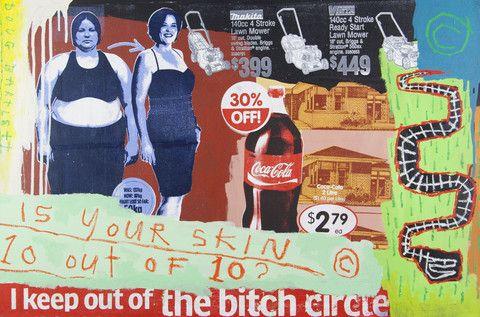 Doug Bartlett 'Your Skin' - mixed media on canvas – Angela Tandori Fine Art