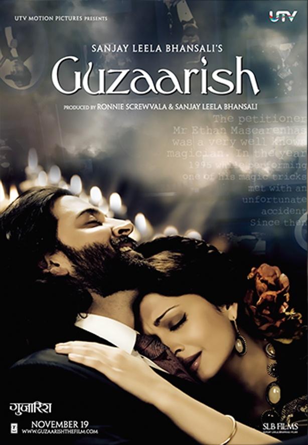 Guzaarish 2010. Hrithik Roshan. Aishwarya Rai Bachchan. Sanjay Leela Bhansali. #Bollywood