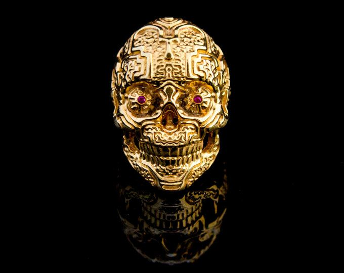 Into The Fire Jewelry  18 kt. rose gold Skull ring Mid size