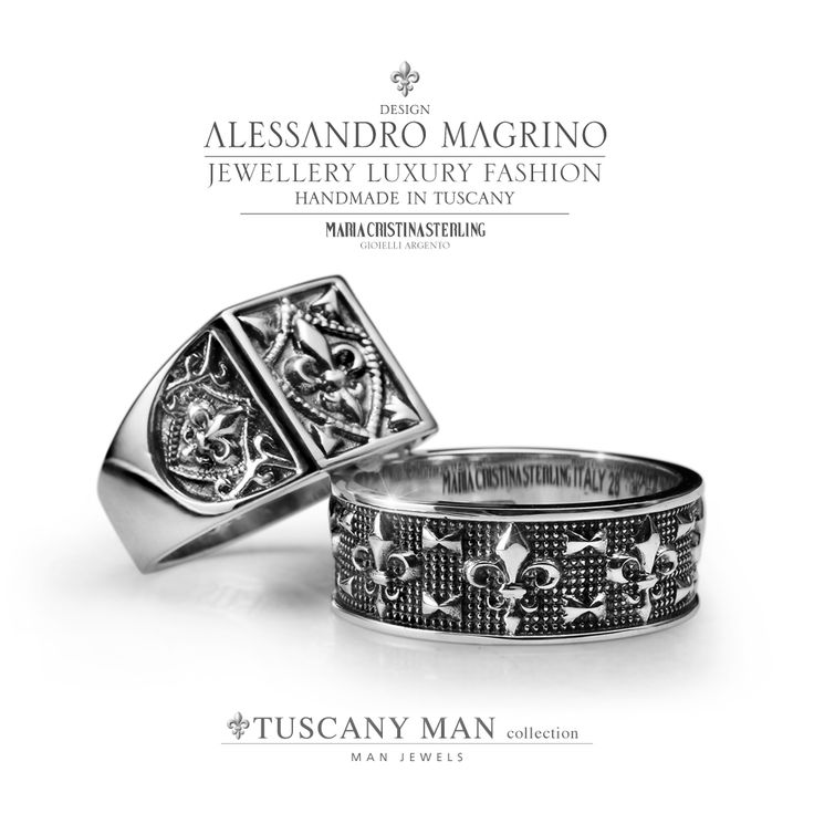 Anelli TUSCANY MAN by Maria Cristina Sterling http://shop.mariacristinasterling.it/categoria-prodotto/gioielli_uomo/collezione_tuscany_man/