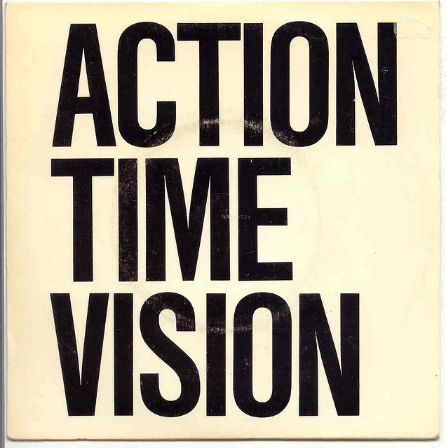 """ALTERNATIVE TV Action Time Vision Striking 45 rpm 7"""" single cover from 1978 via Flickr"""