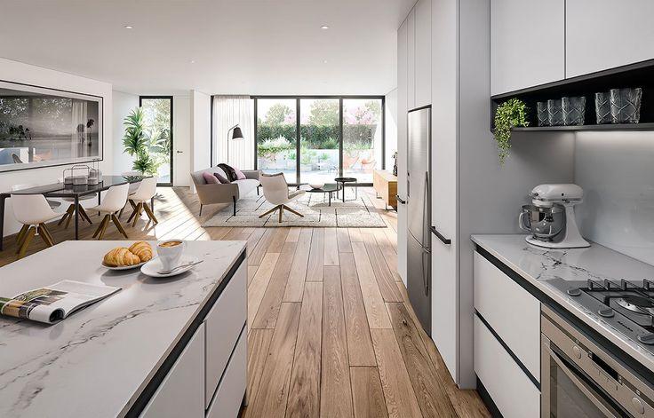 Interior 3d Render Kitchen Dining - Corona Render