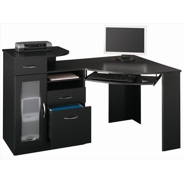 corner desk with 3 drawers bedrooms and desks pinterest. Black Bedroom Furniture Sets. Home Design Ideas