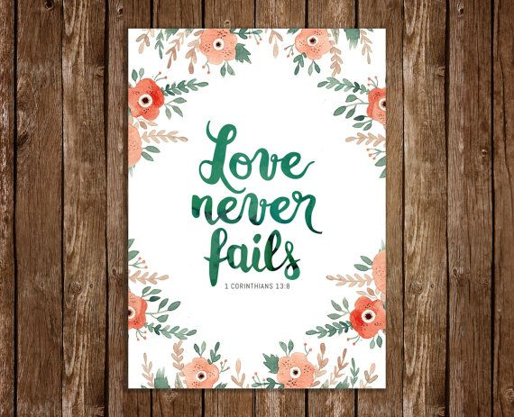 Instant Download  Love never fails  1 Corinthians by JeanBalogh