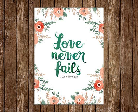 Instant Download  Love never fails  1 Corinthians by JeanBalogh