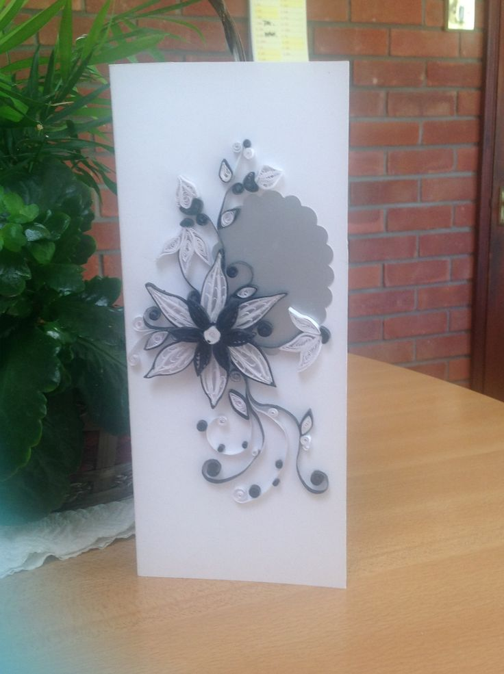 Black and white quilling