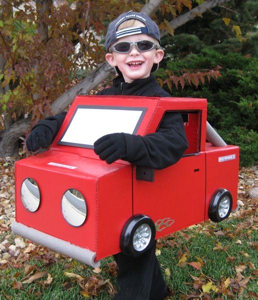 Homemade Race Car Halloween Costume