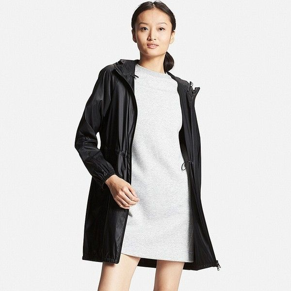 UNIQLO Light Pocketable Long Parka (57 AUD) ❤ liked on Polyvore featuring outerwear, coats, poncho coat, long parka, long white coat, long poncho and uniqlo parka