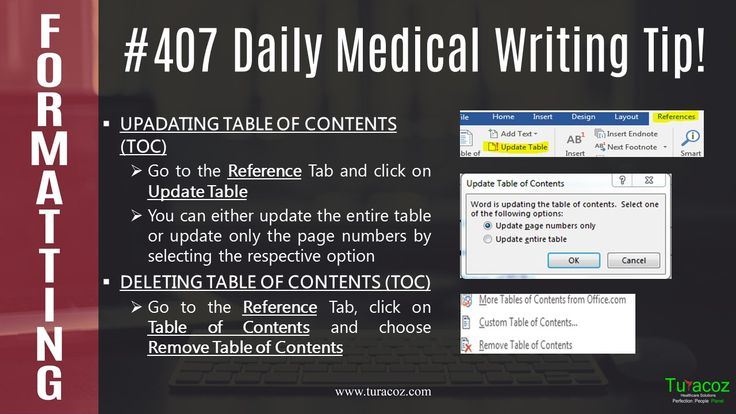 #Turacoz tells you how to update and remove #Table of contents in a #WordDocument.