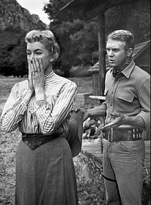 McQueen with Virginia Gregg in Wanted: Dead or Alive, 1959