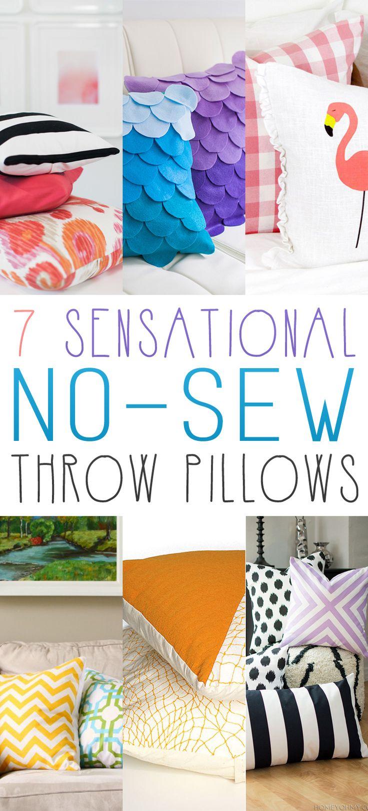 7 Sensational No-Sew Throw Pillows - The Cottage Market