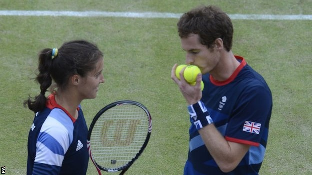Laura Robson & Andy Murray Silver in mixed doubles