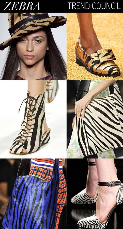 SS 2015, women's accessories trends, pattern zebra