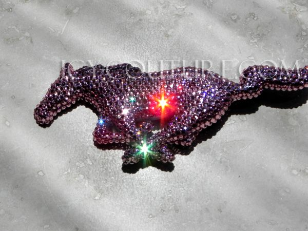 Bling-Bling!: ) Crystal Pink Mustang Emblem. Whats your color?