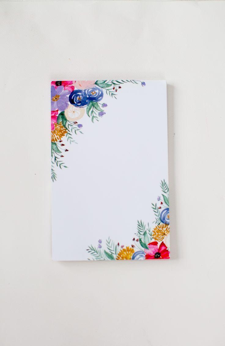 Floral Notepad Blumen Malen Wie Man Blumen Malt Blumen Zeichnen
