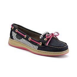 Sperry Women's Boat: Women's Angelfish Slip-On Boat Shoe Navy / Pink / Stripe