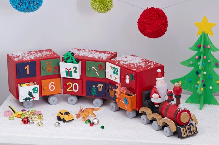 Choo choo... here comes the chocolate! Entertain the kids with this fun advent train at Christmas, perfect for filling with yummy sweets or alternative treats such as little rubbers and toys!
