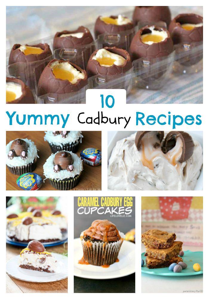 Cadbury Egg Recipes - 10 recipes using the milk chocolate Cadbury Creme Eggs Easter treat!